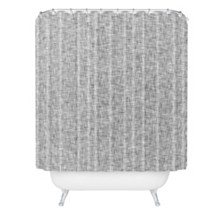 Deny Designs Holli Zollinger Linen Grey Light Shower Curtain