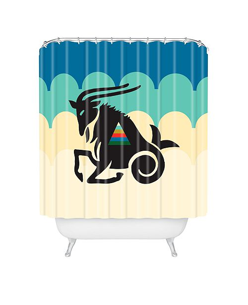 Deny Designs Holli Zollinger Zodiac Capricorn Shower Curtain
