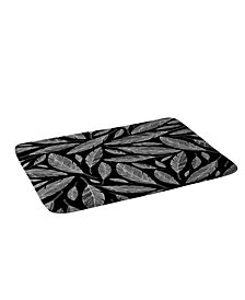 Deny Designs Heather Dutton Float Like A Feather Black Bath Mat