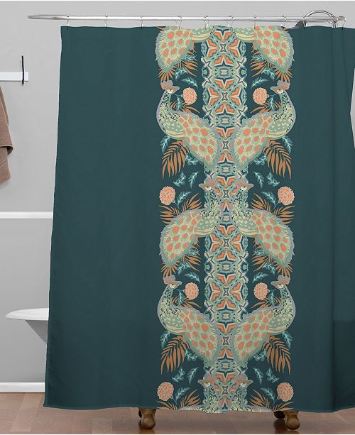 Holli Zollinger Chateau Peacock Shower Curtain