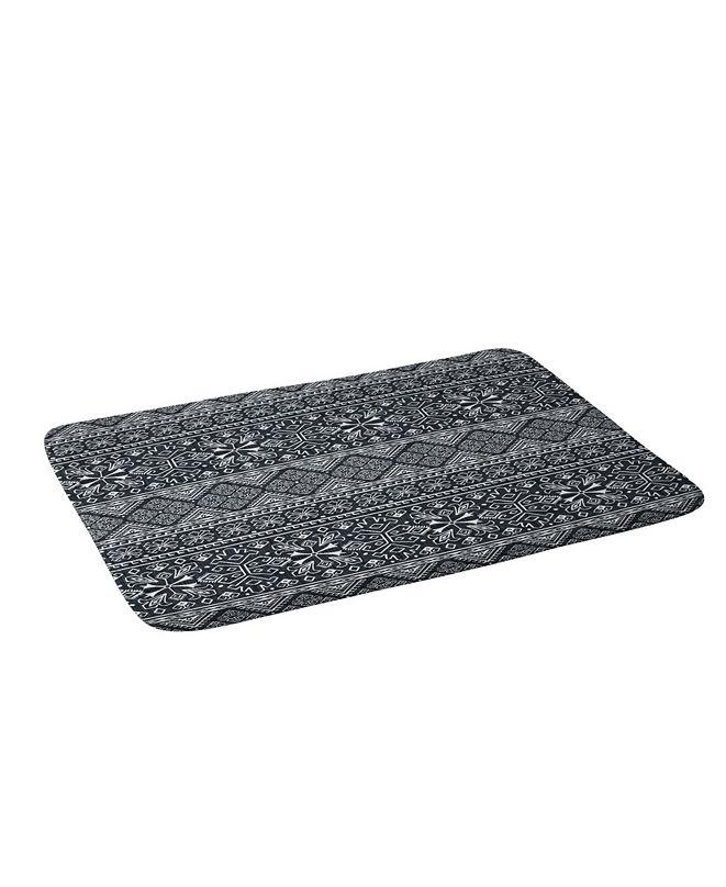 Deny Designs Heather Dutton Grand Bazaar Slate Linen Bath Mat