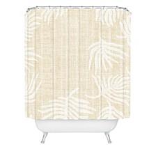 Holli Zollinger Palm Linen Shower Curtain