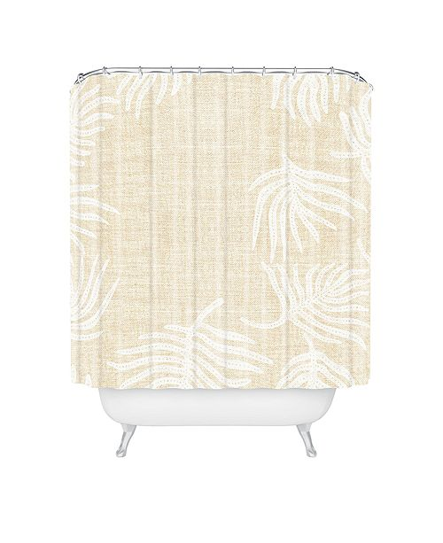 Deny Designs Holli Zollinger Palm Linen Shower Curtain