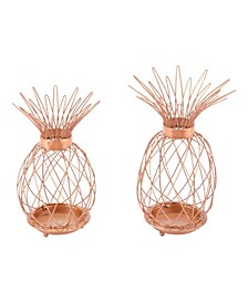 Copper Pineapples, Set Of 2