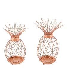 Zuo Copper Pineapples, Set Of 2