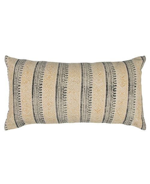 "Rizzy Home 14"" x 26"" Striped Poly Filled Pillow"