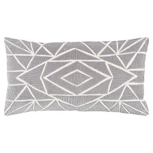 """Rizzy Home 14"""" x 26"""" Geometrical Design Poly Filled Pillow"""