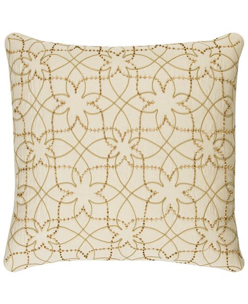 """Rizzy Home Donny Osmond 20"""" x 20"""" Botanical Poly Filled Pillow"""