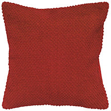 "Rizzy Home Solid Red 20"" X 20"" Poly Filled Pillow"