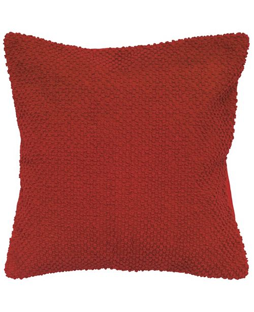 """Rizzy Home Textured Solid 20"""" x 20"""" Poly Filled Pillow"""