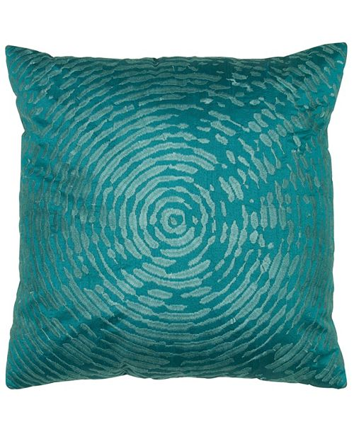 "Rizzy Home 18"" x 18"" Circular Abstract Motif Poly Filled Pillow"