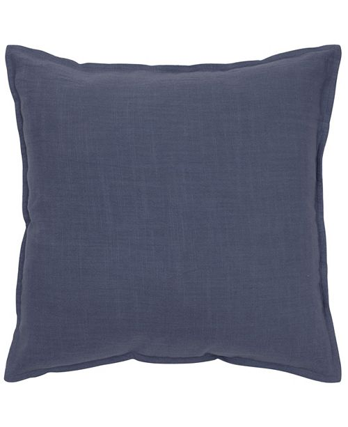 "Rizzy Home Textured Solid 20"" x 20"" Poly Filled Pillow"