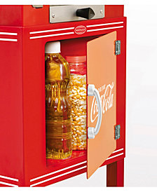 Nostalgia Ccp399Coke Coca-Cola 2.5-Ounce Popcorn Cart - 48 Inches Tall
