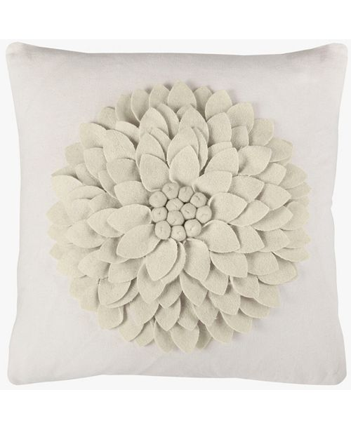 "Rizzy Home 18"" x 18"" 3-D Floral Pillow Collection"
