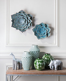 Lotus Md Wall Décor Blue