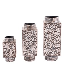 CLOSEOUT! Zuo  Metal Vases, Set Of 3