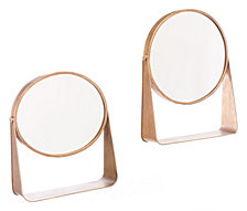 Set Of 2 Table Mirror Gold