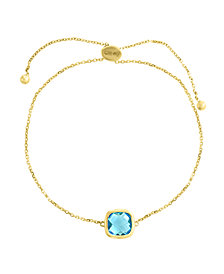 EFFY® Blue Topaz (2 9/10 ct. t.w.) Bracelet in 14k Gold