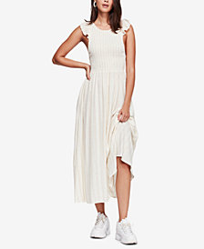 Free People Chambray Butterflies Cotton Maxi Dress