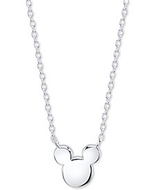 Disney's Mickey Mouse Head Pendant Necklace in Sterling Silver for Unwritten