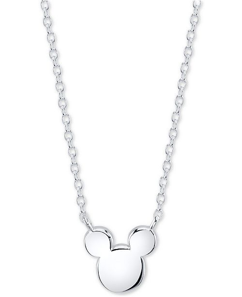 Unwritten Disney's Mickey Mouse Head Pendant Necklace in Sterling Silver for Unwritten