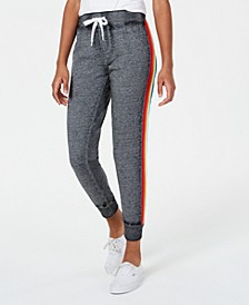Juniors' Rainbow Side-Stripe Jogger Pants