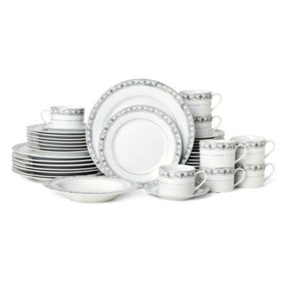 Porcelain 40-Pc. Regent Bead Dinnerware Set, Service for 8