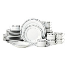 Chadwick Grey 40-Pc. Dinnerware Set, Service for 8