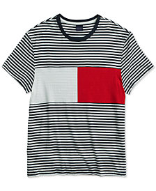 Tommy Hilfiger Adaptive Men's Global Crewneck T-Shirt with Magnetic Closures at Shoulders