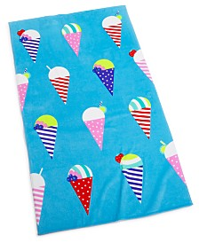 "CLOSEOUT! Martha Stewart Collection Snow Cone 38"" x 68"" Beach Towel, Created for Macy's"