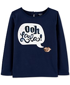 Carter's Little & Big girls Oh Lala Graphic Top