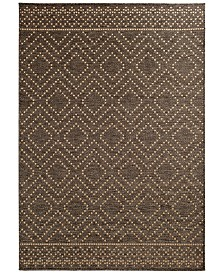 "Trisha Yearwood Home Sidra Border Indoor/Outdoor 5'3"" x 7'7"" Area Rug"