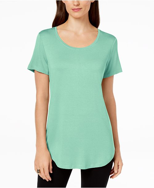 abbc0afab JM Collection Scoop-Neck Top