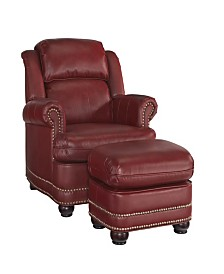 Home Styles Winston Stationary Chair and Ottoman