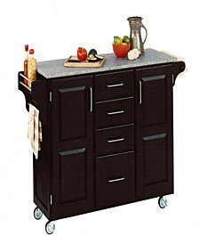 Home Styles Create-a-Cart Black Finish Salt and Pepper Granite Top