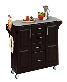 Home Styles Create-A-Cart Salt and Pepper Granite Top