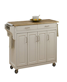 Home Styles Create-a-Cart White Finish with Wood Top