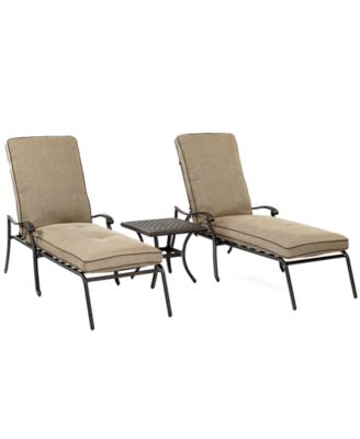 Grove Hill Outdoor Cast Aluminum 3 Pc. Chaise Set (2 Chaise Lounge, Created  For Macyu0027ss And 1 End Table), Created For Macyu0027s