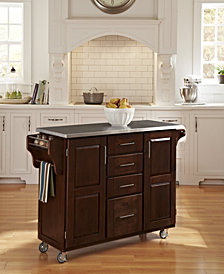 Home Styles Create-a-Cart Cherry Finish Stainless Top