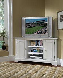 Home Styles Naples White Corner TV Stand
