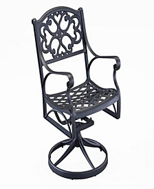 Home Styles Biscayne Black Swivel Dining Chair
