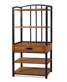 Home Styles Modern Craftsman Distressed Oak Gaming Tower