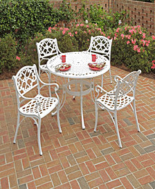 "Home Styles Biscayne 5PC Dining Set 42"" Round Table with Four Arm Chairs"