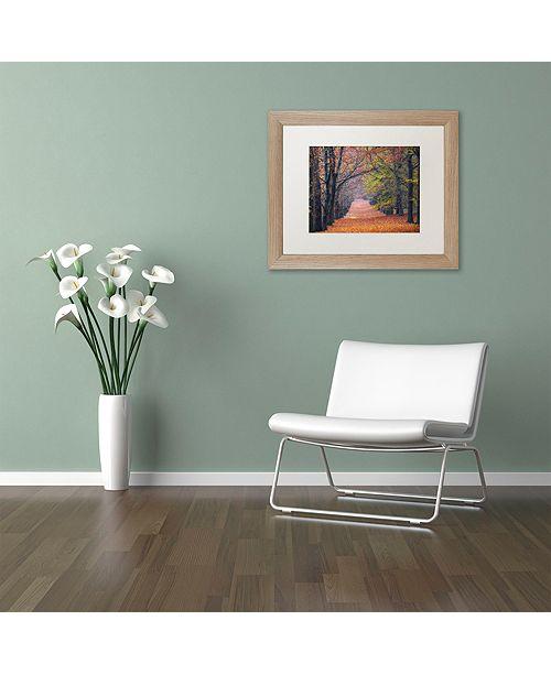 """Trademark Global Cora Niele 'Beech Lane' Matted Framed Art, 11"""" x 14"""""""