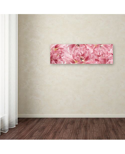 """Trademark Global Cora Niele 'Pink Tulips Scape' Canvas Art, 6"""" x 19"""""""