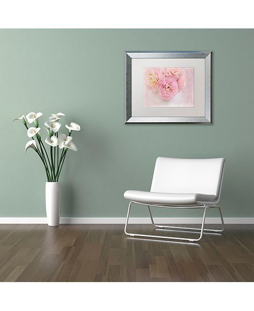 "Trademark Global Cora Niele 'Chique Bouquet' Matted Framed Art, 11"" x 14"""