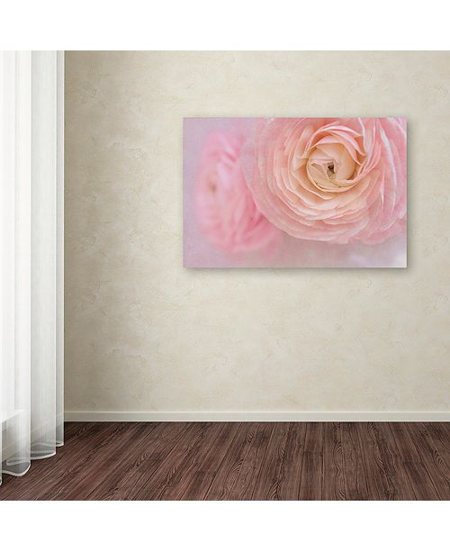 "Trademark Global Cora Niele 'Soft Pink Flower Bouquet' Canvas Art, 16"" x 24"""