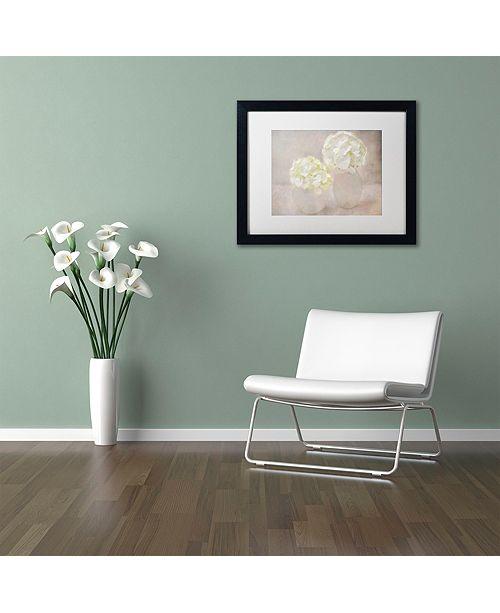 """Trademark Global Cora Niele 'White Hortensia Still Life' Matted Framed Art, 11"""" x 14"""""""