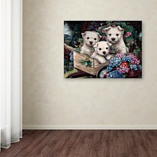 "Jenny Newland 'Lovable Westies' Canvas Art, 14"" x 19"""
