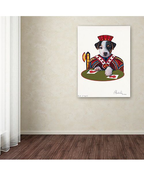 "Trademark Global Jenny Newland 'Jack Of Hearts' Canvas Art, 14"" x 19"""